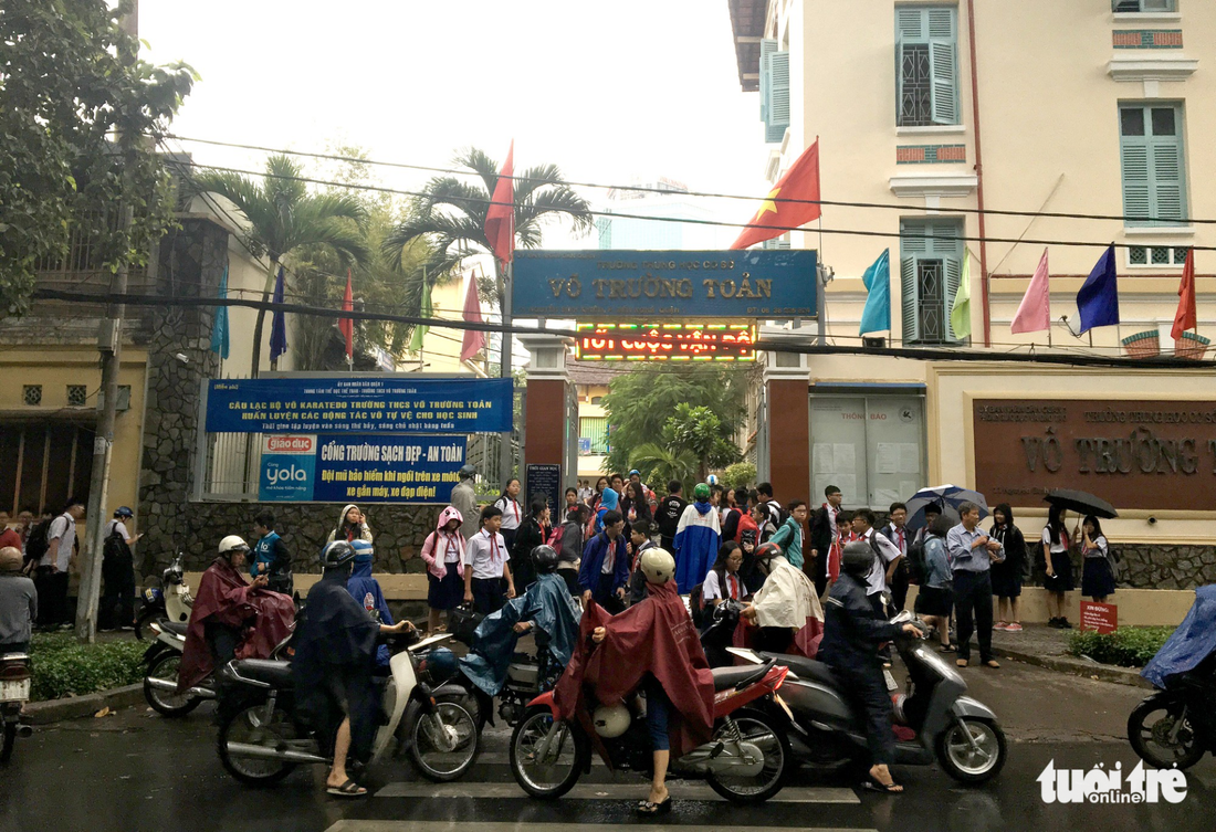 Students are seen at Vo Truong Toan Middle School in Ho Chi Minh City on December 25, 2017. Photo: Tuoi Tre