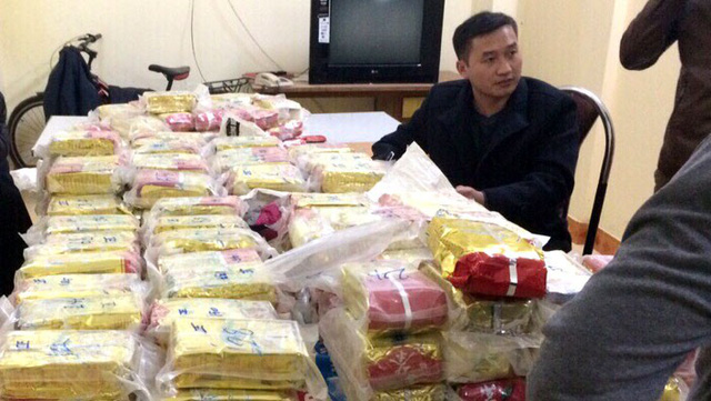 Illegal ring busted for smuggling 171kg of heroin from Laos into Vietnam