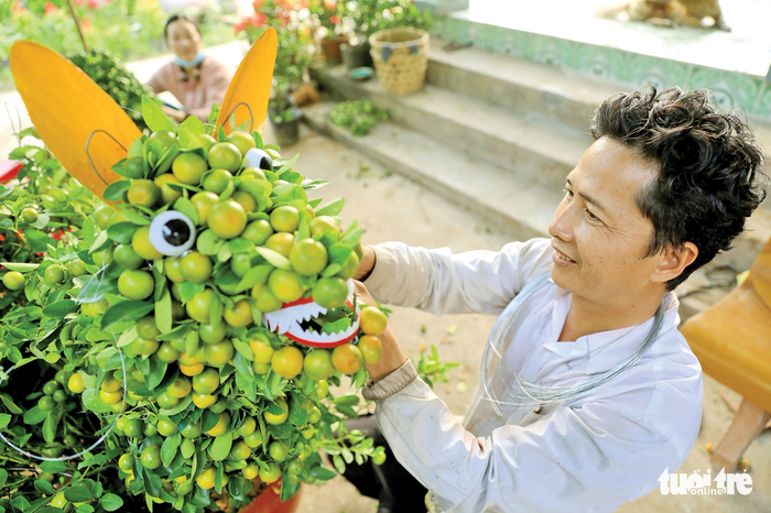 Fruit puppies on sale for Vietnam's Lunar New Year