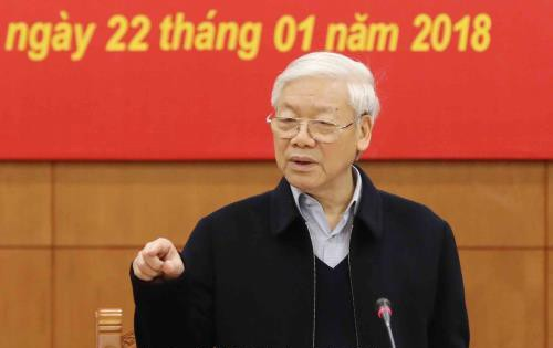 21 corruption cases to be heard in 2018: Vietnam Party chief