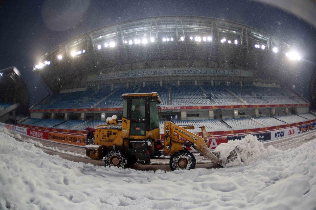 Heavy snowfall threatens to postpone AFC U23 Championship final