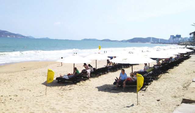 Nha Trang beach likely have more set space, rules for hotels