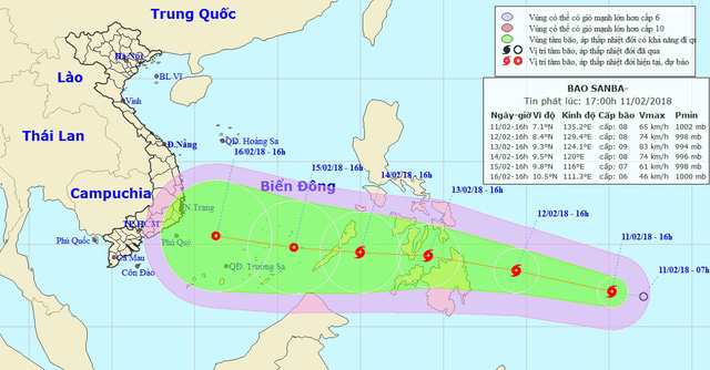 ​Tropical storm threatens East Vietnam Sea ahead of Lunar New Year
