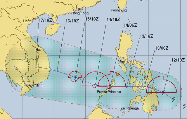 Storm Sanba to close in on Vietnam's Truong Sa on Lunar New Year's Eve