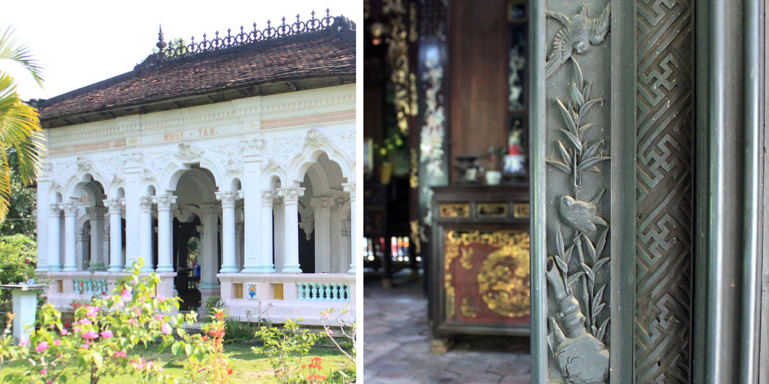 In Mr. Xoat's ancient accommodation, the doors are carefully, intricately and beautifully carved. Photo: Tuoi Tre