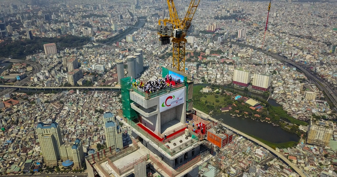 Topping out ceremony held for Vietnam's tallest tower
