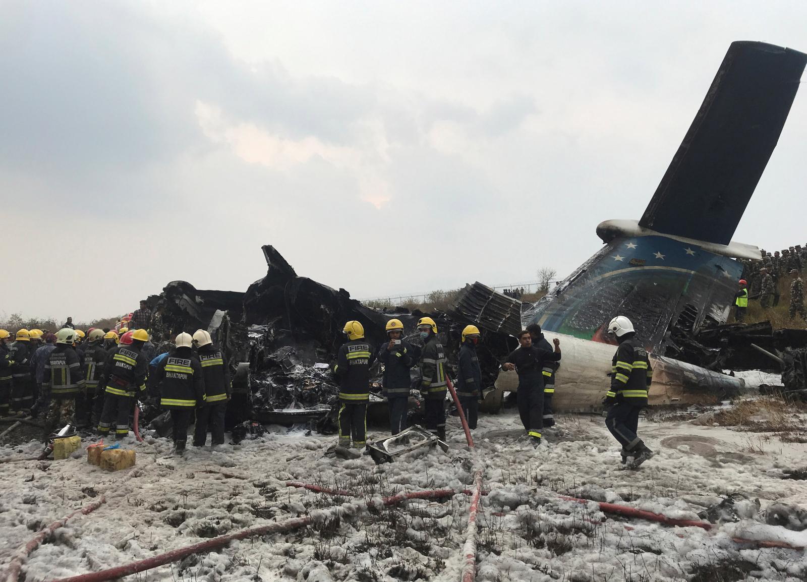Bangladesh plane carrying 71 people crashes in Nepal
