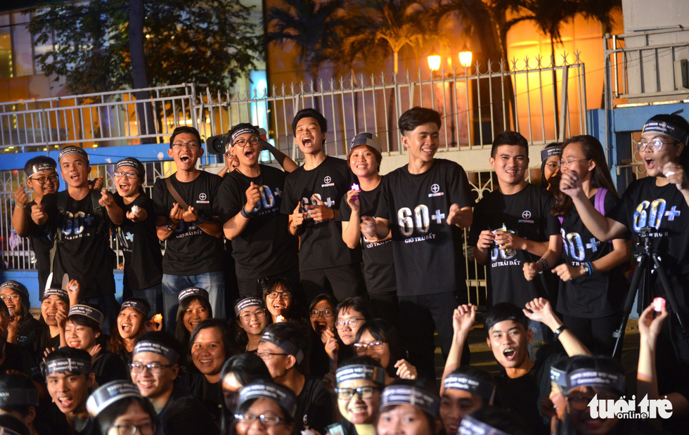 Ho Chi Minh City youths participate in the campaign.
