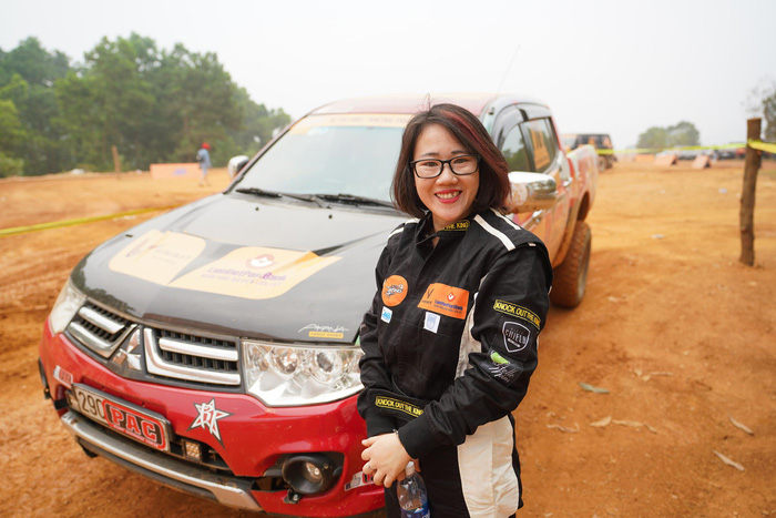 Vu Huyen Ngoc, the only female racer at Knock Out the King 2018, held in Hanoi, between March 24 and 25, 2018. Photo: Tuoi Tre