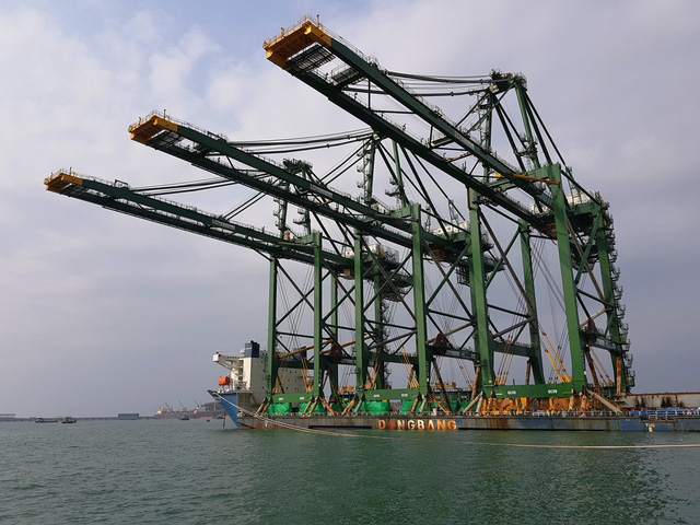 Colossal Vietnam-produced container cranes shipped to India