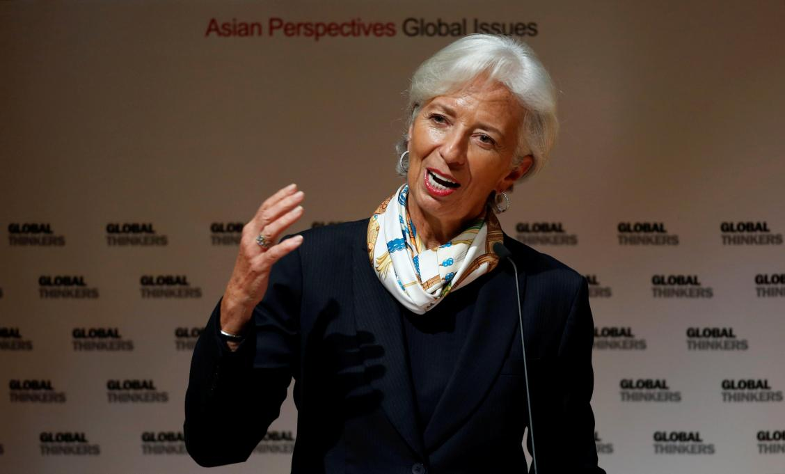 IMF chief optimistic on growth, but warns against trade protectionism