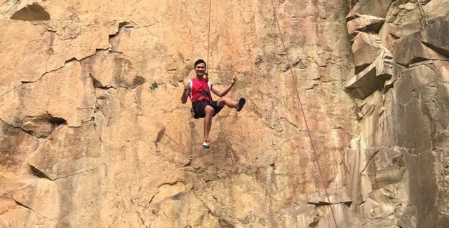 ​Vietnamese man finds meaning of life: beating acrophobia, becoming rock-climbing trainer