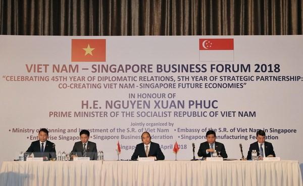 Vietnam, Singapore strengthen economic ties via business forum