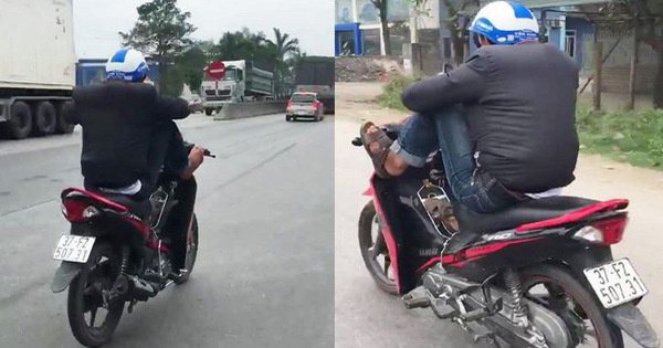 Man filmed riding motorbike with feet in central Vietnam