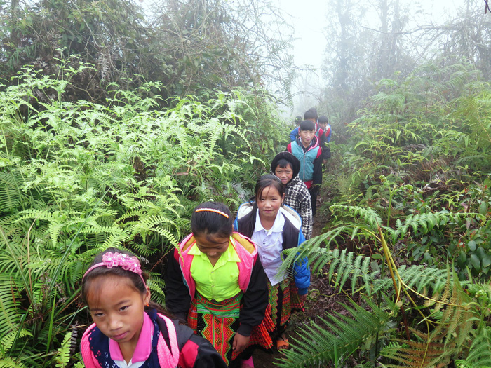 ​Uphill both ways: Vietnamese students brave jungles, snakes for a shot at education
