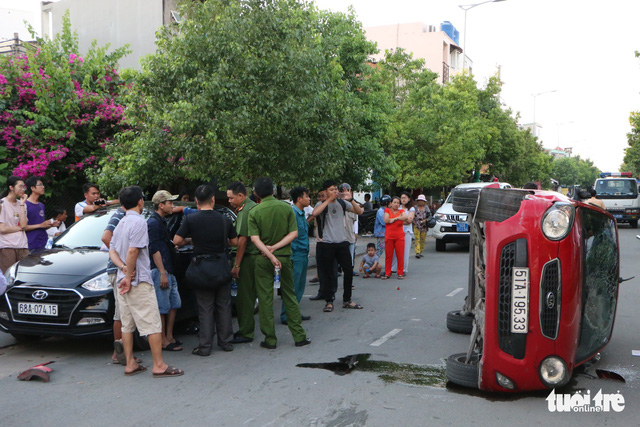 Hit-and-run leads to multiple collisions in Ho Chi Minh City
