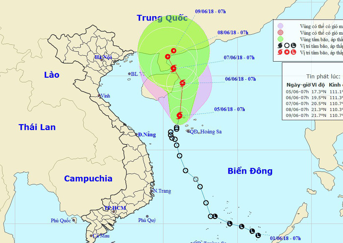 Tropical depression evolves into storm in East Vietnam Sea