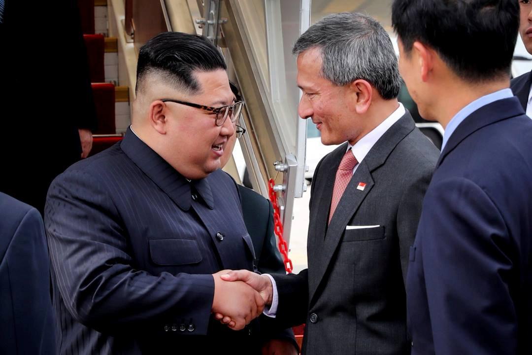 N. Korea's Kim arrives in Singapore for historic Trump summit