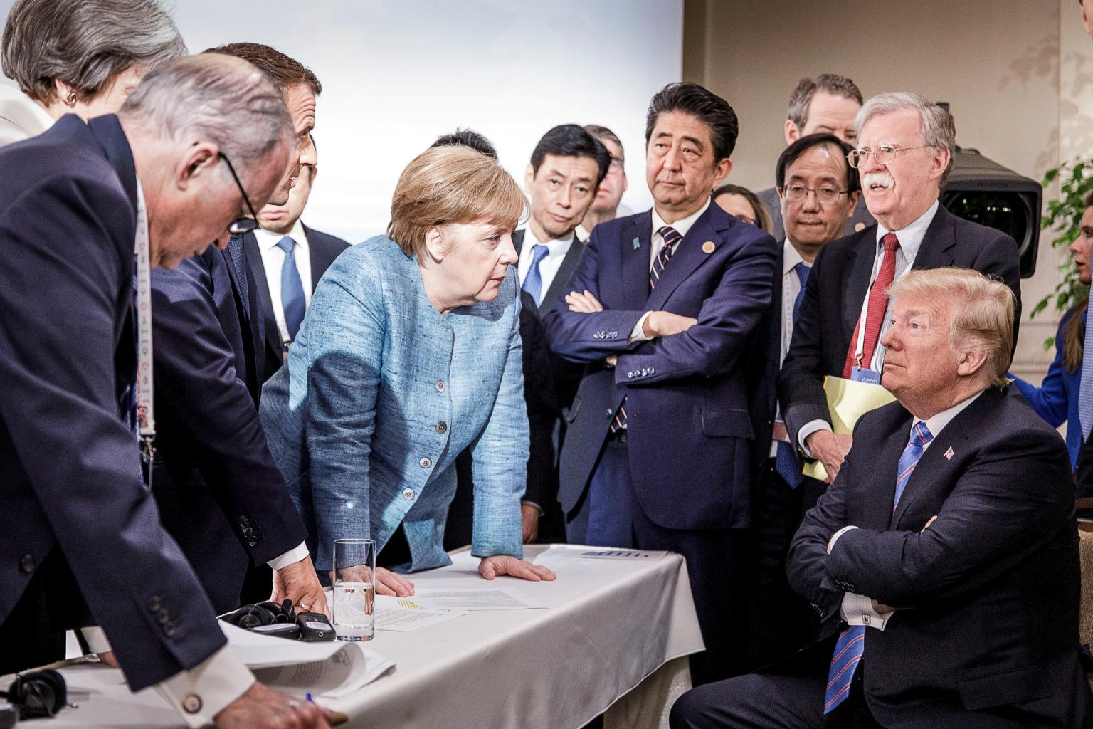 One 'rant,' rough talks sour G7 mood in confrontations with Trump