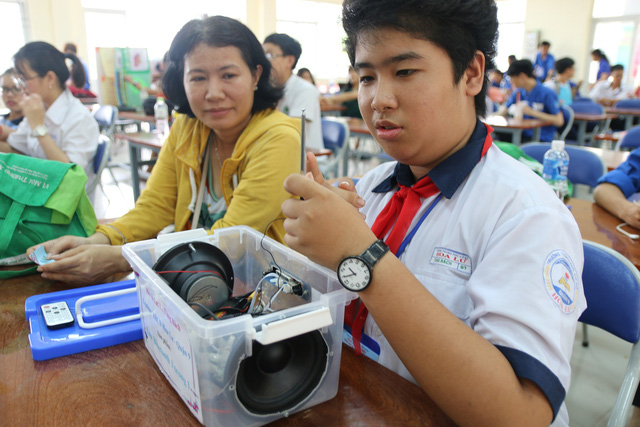 ​Vietnamese students showcase surprising products at Ho Chi Minh City contest