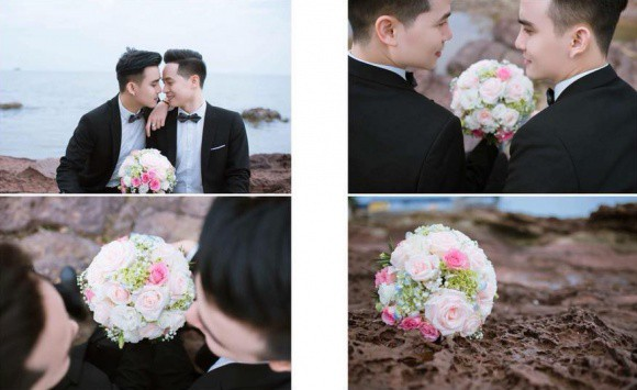 Gay couple ties the knot in fairy-tale wedding in northern Vietnam