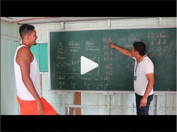 Watch Chris Smalling learning how to speak Vietnamese
