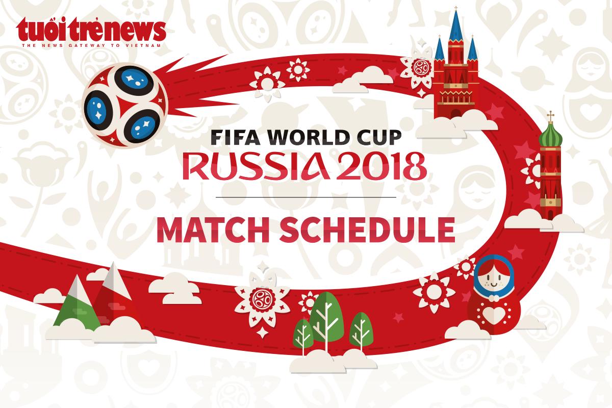 2018 FIFA World Cup schedule in Vietnam