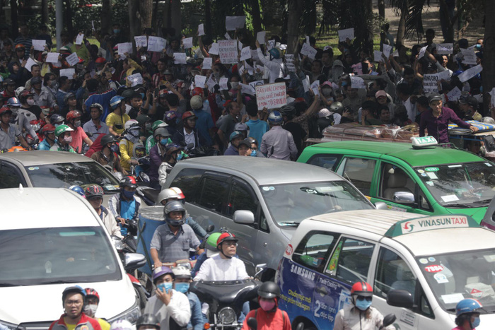 ​Four prosecuted for damaging properties during protest in Ho Chi Minh City