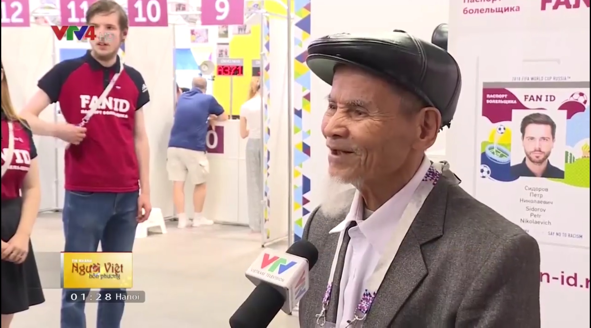 ​95-year-old Vietnamese man oldest fan at 2018 World Cup in Russia