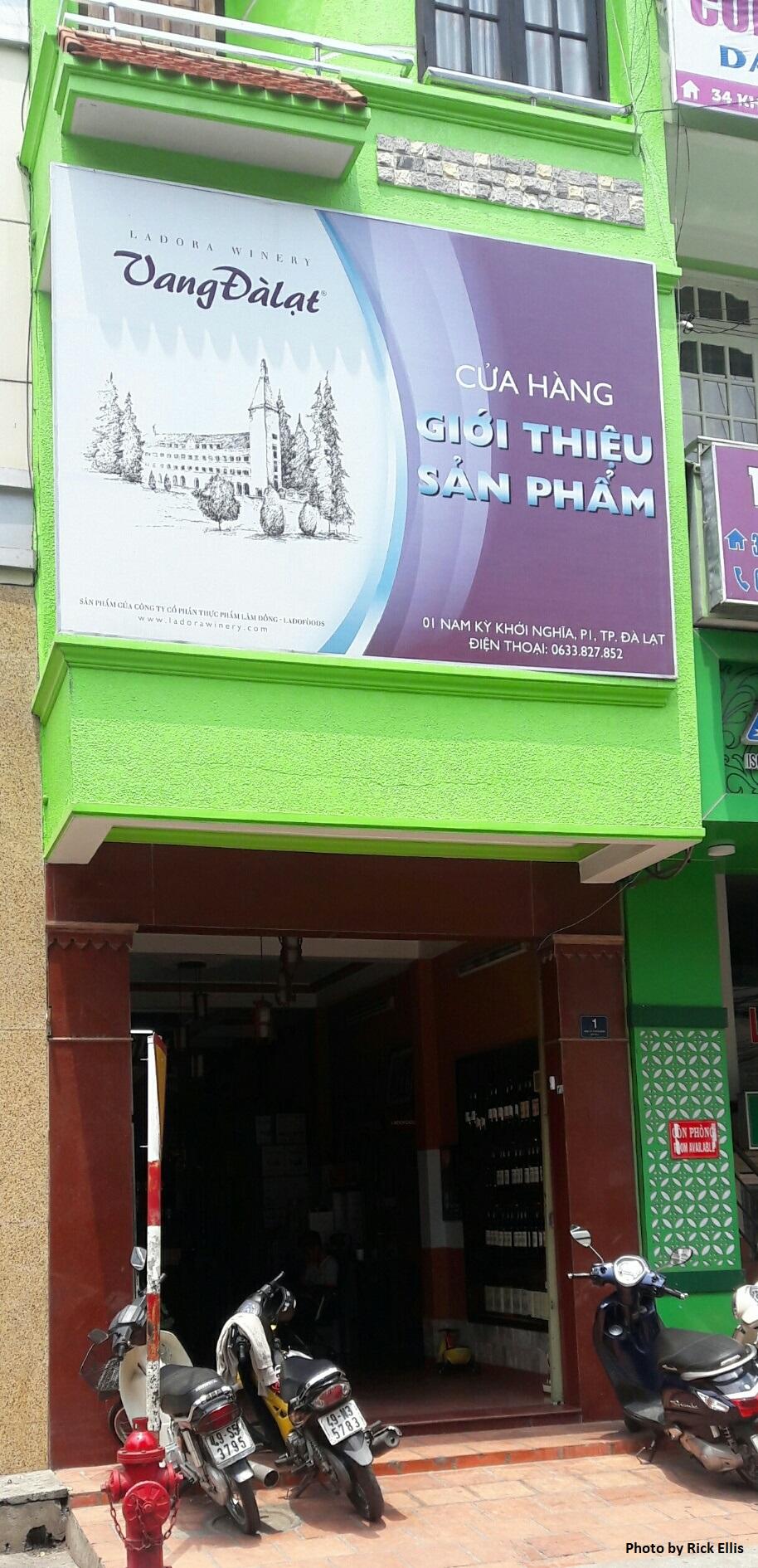A domestic wine store in Da Lat