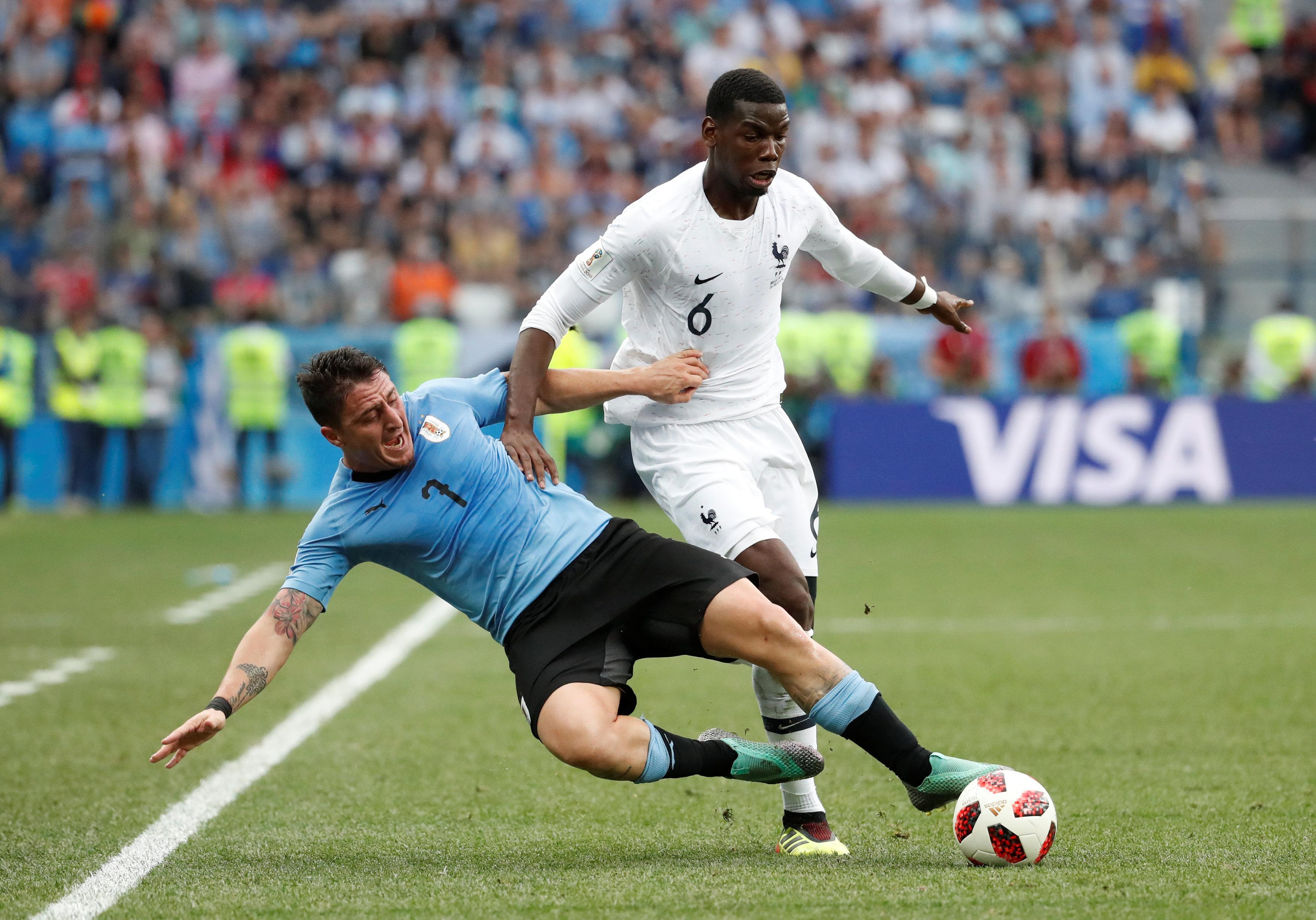 Francebeat Uruguay 2-0 to reach semi-finals