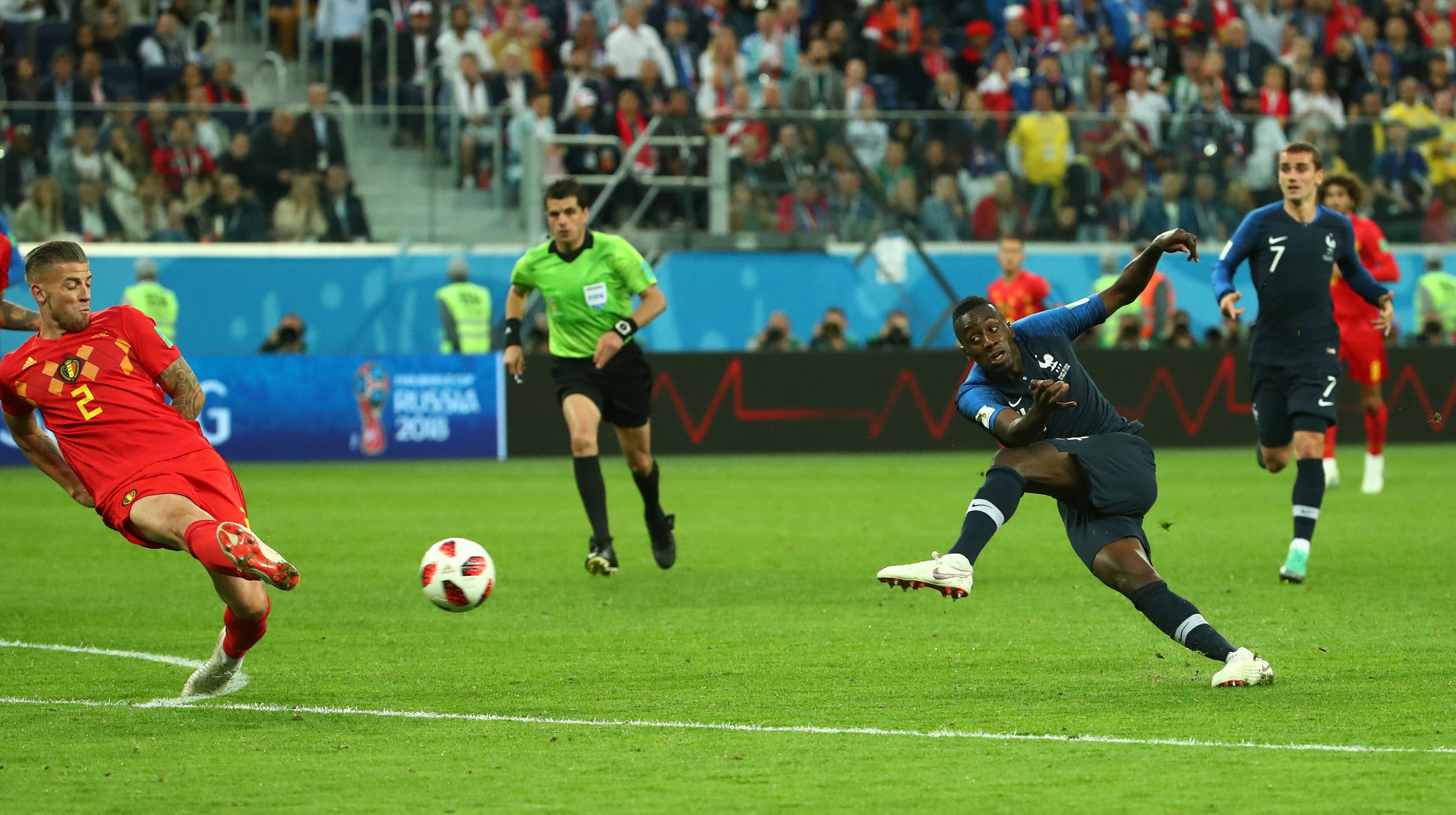 Umtiti header sends France past Belgium and into World Cup final