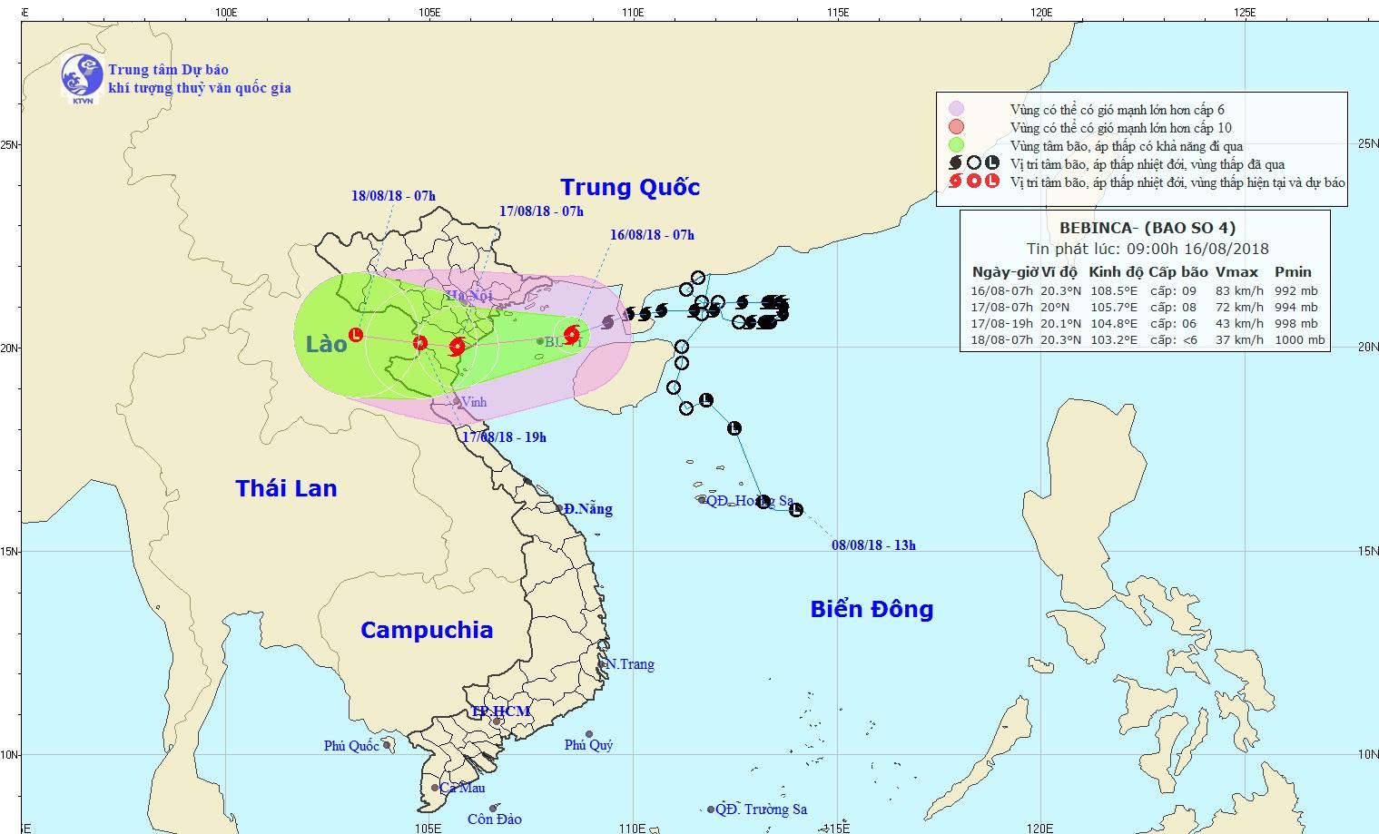 Storm Bebinca to bring rainfall, flooding to northern Vietnam this week