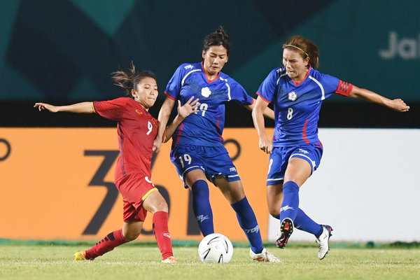​Vietnam women's football out after losing to Taiwan in Asian Games quarterfinal shootout