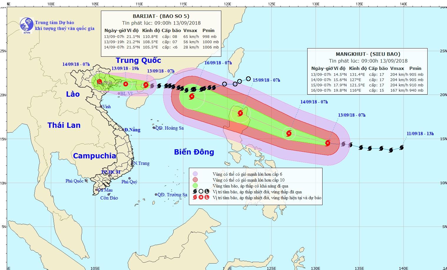 Storm Barijat to weaken as Vietnam braces for Super Typhoon Mangkhut