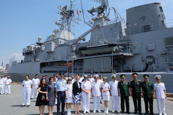 New Zealand naval frigate on visit to Ho Chi Minh City