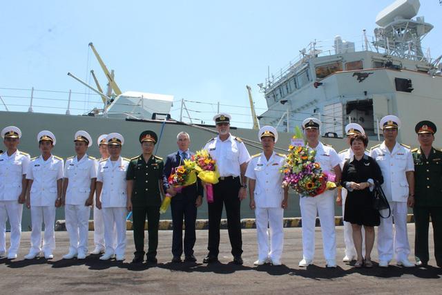Royal Canadian navy ship HMCS Calgary visits Da Nang