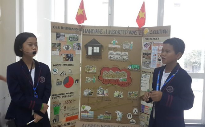 Vietnamese seventh graders invent garbage processing strategy