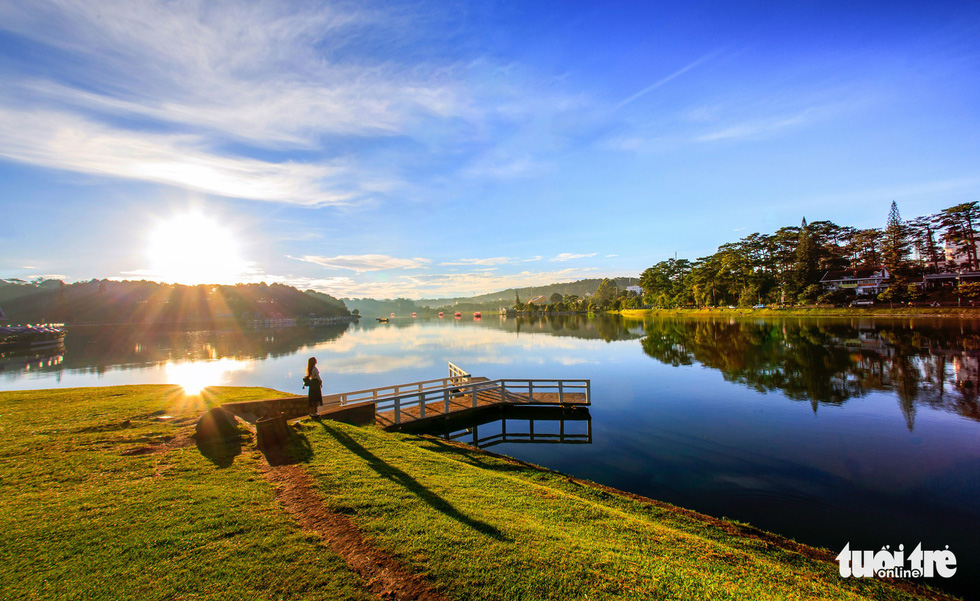Xuan Huong Lake in downtown Da Lat. Photo: Tuoi Tre