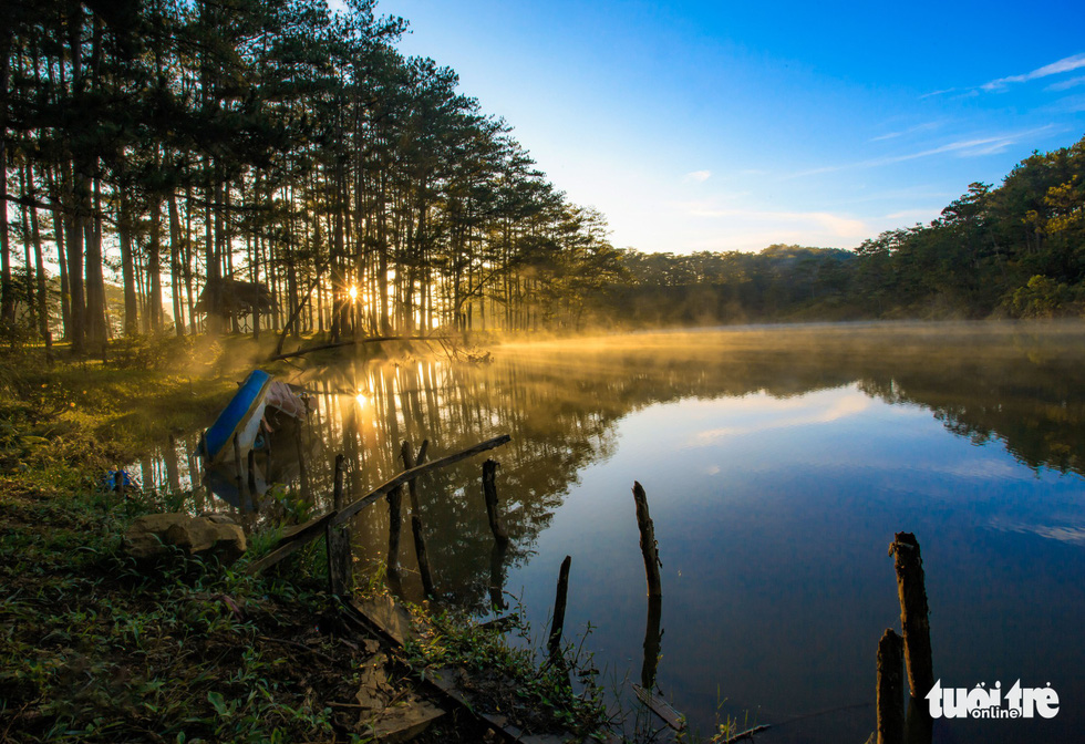Suoi Vang Lake in the outskirts of Da Lat. Photo: Tuoi Tre