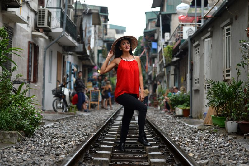 The old tracks in central Hanoi are a real draw for tourists. Photo: AFP