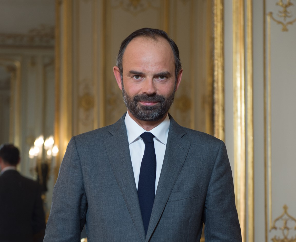 French Prime Minister Édouard Philippe is seen in this photo provided by the French Consulate General in Ho Chi Minh City.