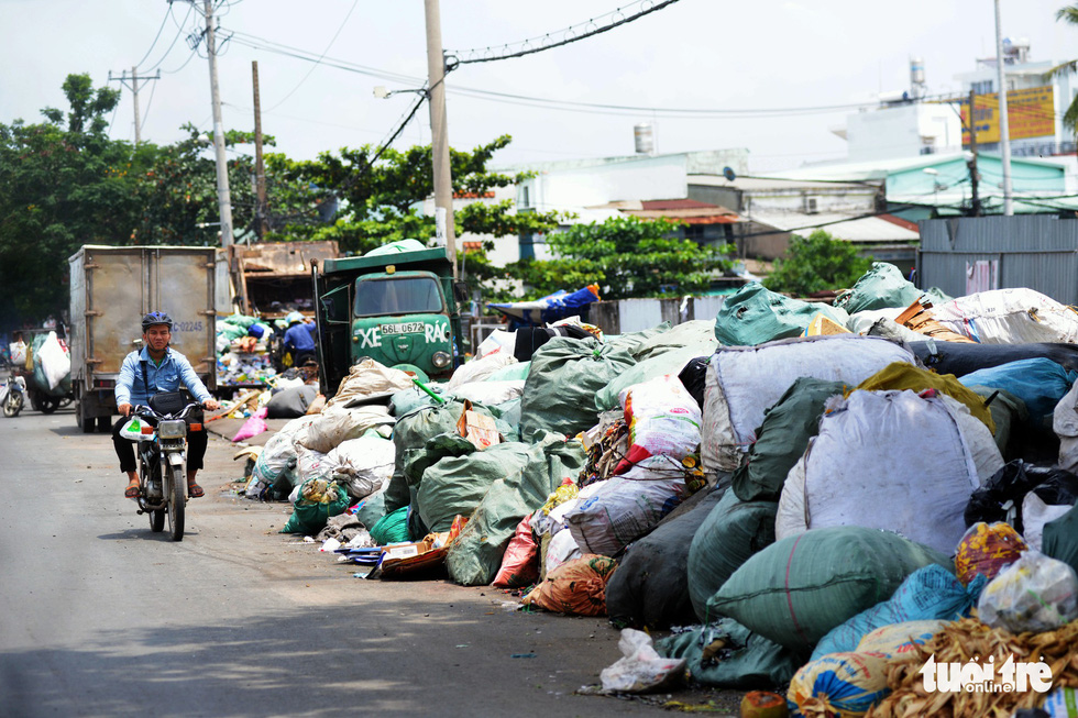 Garbage piles up along National Highway 1.