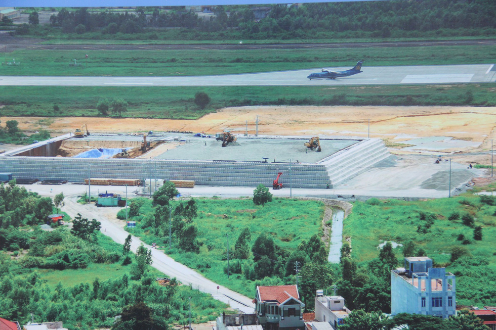 The land plot where the dioxin remediation project is carried out. Photo: Tuoi Tre