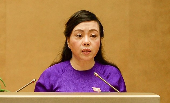 Nguyen Thi Kim Tien, Vietnamese Minister of Health, speaks at a session of the lawmaking National Assembly on November 9, 2018. Photo: National Assembly