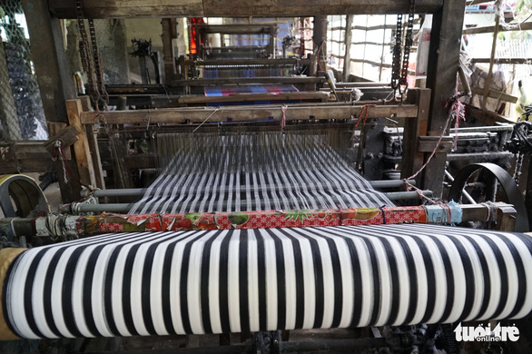 A loom is pictured at a workshop in the Long Khanh weaving village in Dong Thap Province, southern Vietnam. Photo: Tuoi Tre