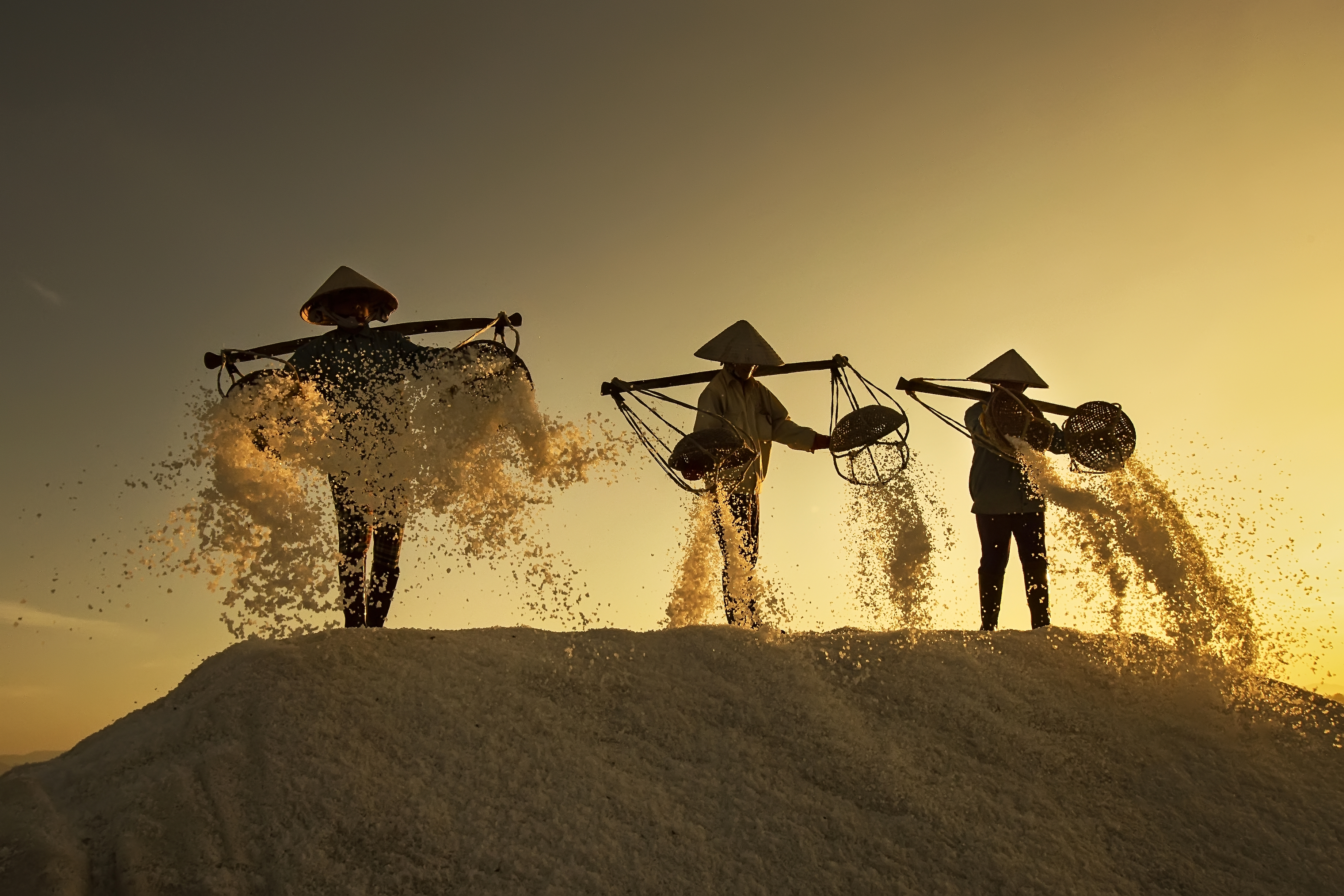 This photo capturing salt workers in Vietnam by Nese Ari was featured on The Daily Telegraph
