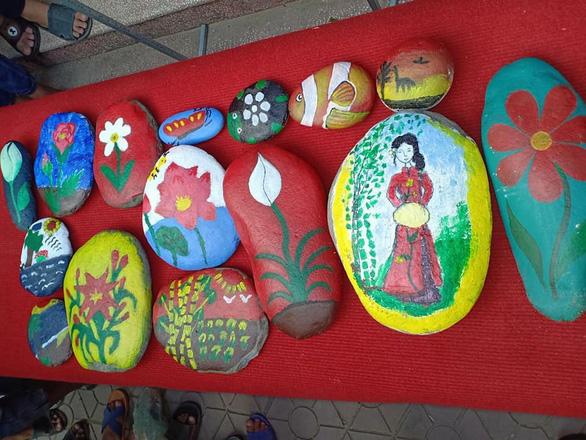 Students' artwork. Photo: Tuoi Tre