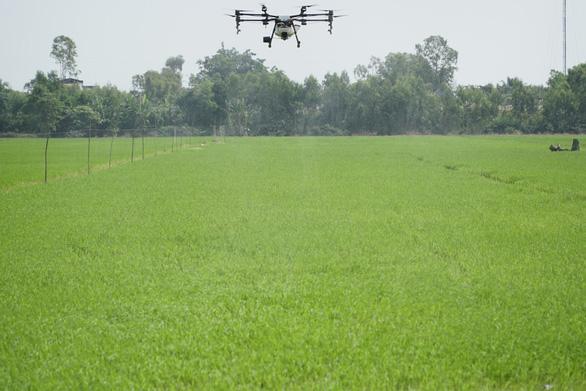 Crop-spraying drone showcased in Vietnam's Mekong Delta