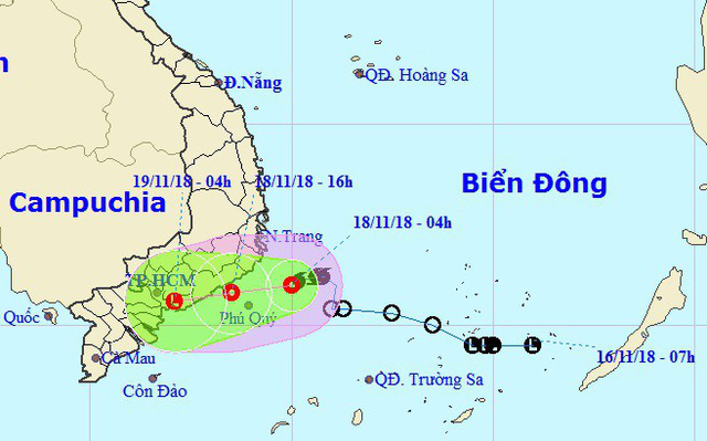 Storm off southern Vietnam weakens into tropical depression